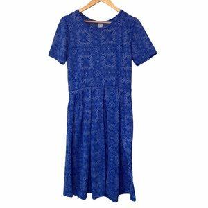 LulaRoe Amelia Blue Dress Size XL